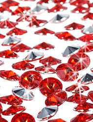 Wedding Décor Round Red Acrylic Confetti - Set of 2000 Pieces