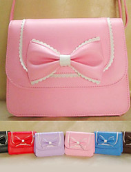 Handmade Mini PU Leather Sweet Lolita Bag with Bow
