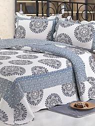 3 peças clássicas geométrica lavado algodão conjunto quilt