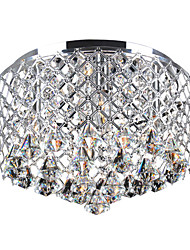 60W Hedendaagse kristal inbouw met 4 Lights en Metal Drum Shade
