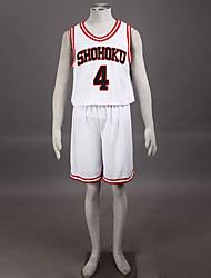 косплей костюм вдохновлен Slam Dunk Такенори Акаги shohoku высокой баскетбольной команды школы № 4 равномерный белый