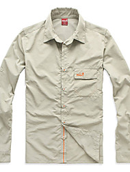 EAMKEVC Men's Short Sleeve Quick Dry Outdoor Shirt Ultraviolet Resistant Khaki, Gray, Green