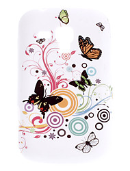 Motif papillon Case Durable souple pour Samsung Galaxy Evolution S7562 Duos