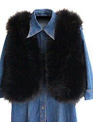 Wonderful Sleeveless Collarless Faux Fur Casual/Party Vest (More Colors)