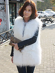 Fur Vest With Chic Sleeveless Collarless In Faux Fur Casual/Party Vest (More Colors)