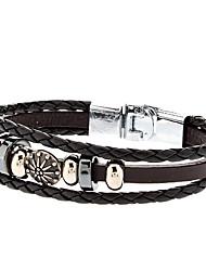 Zubehör elegante Kombination aus Leder Seil Armband Schmuck