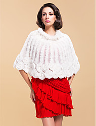 Rabbit Fur / Chiffon With Ruffles Party / Evening Poncho / Wrap (More Colors)