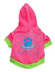 Dog Hoodie Pink Dog Clothes Spring/Fall Cartoon