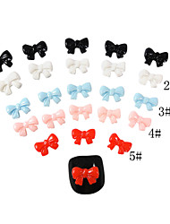 YeManNvYou®20PCS 3D Resin Finger Nail Decorations Bowknot 7*9 (Assorted Color)