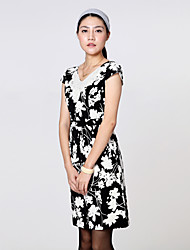 BLG Classic Butterfly Print Short Sleeve Dress