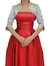 Wedding / Party/Evening Satin Coats/Jackets Half-Sleeve Wedding  Wraps