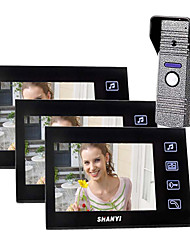 """7 """"couleur Portier vidéo avec enregistrement SD Picture Card, la prise de photos (1 photo Pour 3 Moniteur)"""