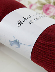 Personalized Paper Napkin Ring - Rose (Set of 50)