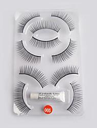 5 пар Черном Природные Волос значение False Eyelashe 5-005