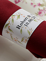 Personalized Paper Napkin Ring - Lovable Flower (Set of 50)