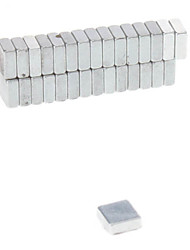 30pcs 5x5x2mm Magnetic Magic Cube (Silver)