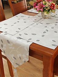 Classiques en polyester Jacquard Gris Runners table de branchement