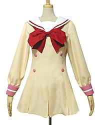 Inspired by Pretty Cure Cosplay Anime Cosplay Costumes Cosplay Suits / School Uniforms Patchwork Yellow Long Sleeve Dress / Bow