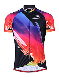 RUSOO COOLDRY Material Short Sleeve Breathable Men Cycling Jersey RS-D030