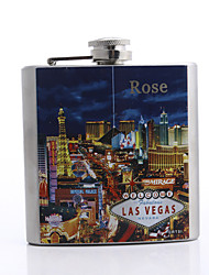 Personalized Father's Day Gift Las Vegas Pattern 5oz Metal Flask