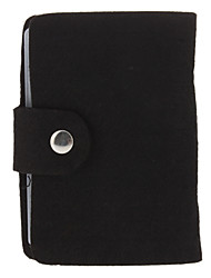 Lã Vintage feltro 20 Slot-Bag Titular de Crédito (cor aleatória)