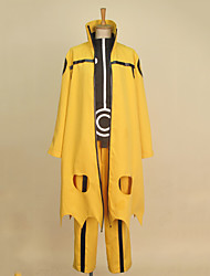 Inspired by Naruto Naruto Uzumaki Anime Cosplay Costumes Cosplay Suits Patchwork Yellow Long SleeveCoat / Shirt / Pants / Headband / Shoe