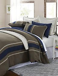 einfach&opulence® 3-teilige Gråsten gewebten Streifen Poly / Viskose Bettbezug-Set