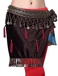 Performance Dancewear Velvet with Coins Belly Dance Belt For Ladies More Colors