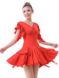 Ropa Vestido de viscosa con Crystal baile latino más colores para señoras