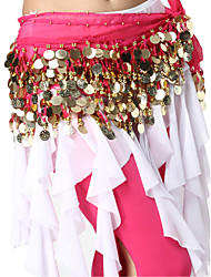 Performance Dancewear Chiffon with 128 Coins Belly Dance Belt For Ladies