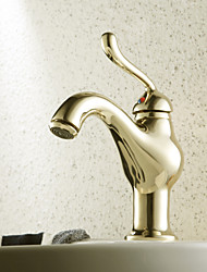 Ti-PVD Finish Antique Style Centerset Brass Bathroom Sink Faucets