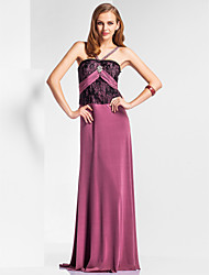 Sheath/Column Straps Floor-length Jersey Evening/Prom Dress