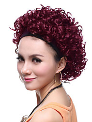 Capless High Quality Synthetic Short Curly Red Hair Wigs