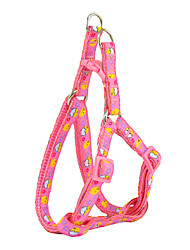 Plastic Buckle Drawable Little Chicken Pattern Harness and Leash for Dogs