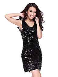 Performance Dancewear Tulle with Sequins Latin Dance Dress For Ladies(More Colors)