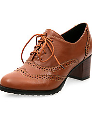Leatherette Chunky Heel Lace-ups With Lace-up Party / Evening Shoes (More Colors)