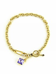 Women's Charm Bracelet Cubic Zirconia/Alloy