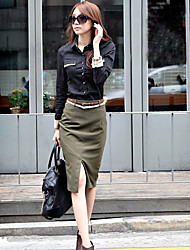 Women's Work Knee-length Skirts Inelastic