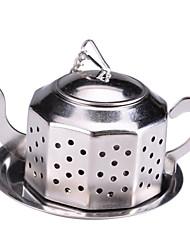 Théière inox sachets de thé en acier