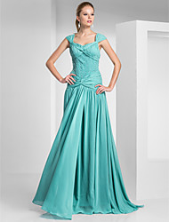Sheath/Column Square Floor-length Chiffon Evening/Prom Dress