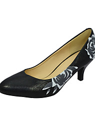 Gorgeous Kunstleder Stiletto Pumps mit Blumen Party / Abendschuhe