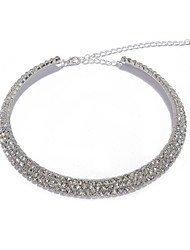 3 Tiered Sparking Crystal Choker Necklace