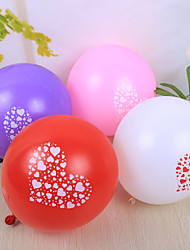 Wedding Décor Pretty Heart Design Round Ballon - set of 50 (More Colors)