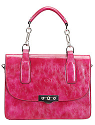 C&T Young Trendy Megnetic Closure Handbag(Fuchsia)