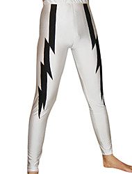 White and Black Lightning Spandex Pants