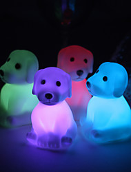 Wedding Décor Cute Vinyl Dog LED Lamp - Set of 4 (Color Changing, Built-in Botton Cell)