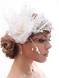 Schöne Silk Screen / Imitation Perlen und Federn Hochzeit / Braut Blume