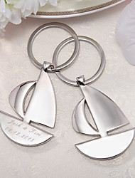 Inox Porte-clée pour Invitée-4 Pièce / Set Porte-clés Thème de plage Personnalisé Argent