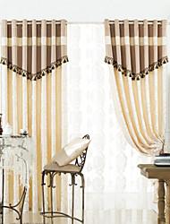 (dois painéis) cortinas elegante tradicional energia impressão poupança definir com borlas