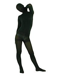 Dark Green Velvet Full Body Zentai